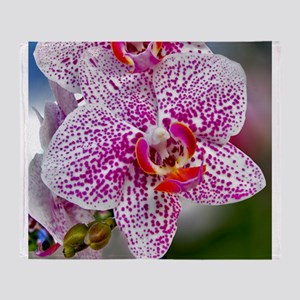 Orchid World Throw Blanket