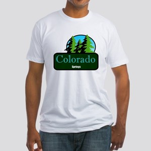 colorado springs t shirt truck stop novelty Fitted