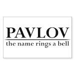 Pavlov Rings Bells Sticker (Rectangle)