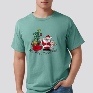 my first christmas with  Mens Comfort Colors Shirt