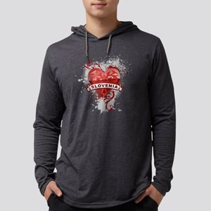 heartSlovenia2 Mens Hooded Shirt