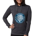journeycircle_blue Womens Hooded Shirt