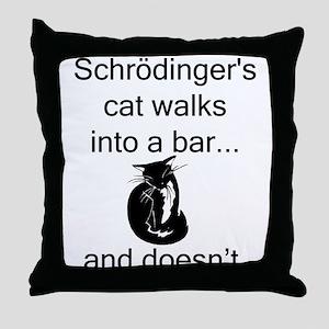Schrödinger's Cat Throw Pillow