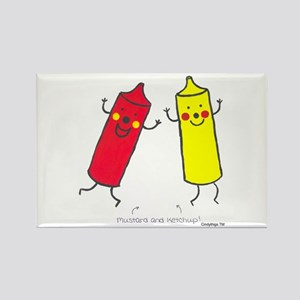 Mustard & Ketchup Rectangle Magnet