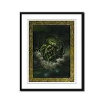 Cthulhu Rising Framed Panel Print