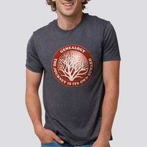 journeycircle_red Mens Tri-blend T-Shirt