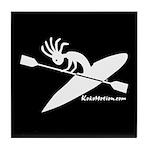 Kokopelli Kayaker Tile Coaster