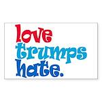 Love Trumps Hate Sticker (Rectangle 10 pk)