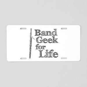 Bassoon Band Geek Aluminum License Plate