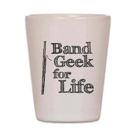 Bassoon Band Geek Shot Glass