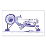 Ergometer rowing sketch Sticker (Rectangle 50 pk)