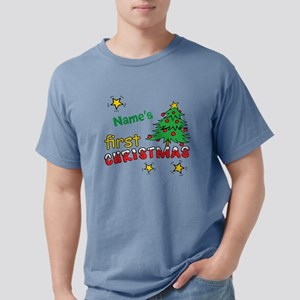 Custom First Christmas Mens Comfort Colors Shirt
