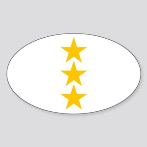 yellow star 3 Sticker (Oval)