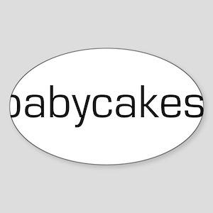Babycakes Oval Sticker