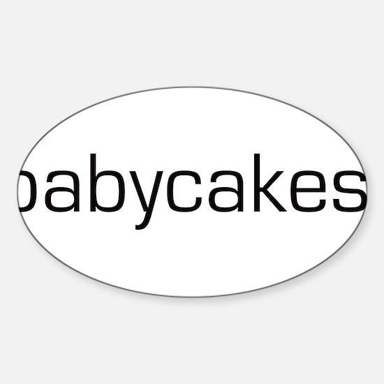 Babycakes Oval Decal