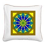 Trumpet Flower 36 Square Canvas Pillow