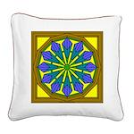 Trumpet Flower 39 Square Canvas Pillow