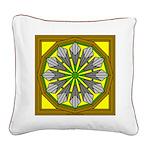 Trumpet Flower 40 Square Canvas Pillow