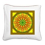Trumpet Flower 45 Square Canvas Pillow