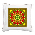 Trumpet Flower 49 Square Canvas Pillow
