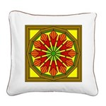 Trumpet Flower 50 Square Canvas Pillow