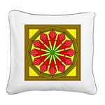 Trumpet Flower 51 Square Canvas Pillow