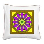 Trumpet Flower 52 Square Canvas Pillow
