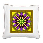 Trumpet Flower 53 Square Canvas Pillow