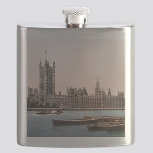 Vintage Houses of Parliament Flask