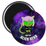 Alien Neko Space Kimono Magnet