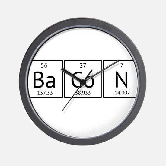 BaCoN Periodic Element Wall Clock