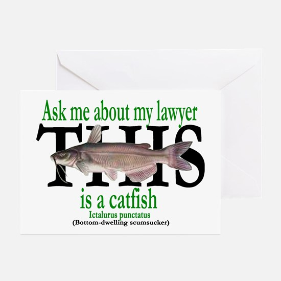 LAWYER CATFISH Greeting Cards (Pk of 10)