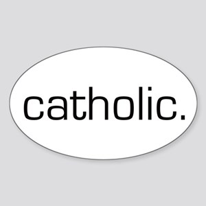 Catholic Oval Sticker