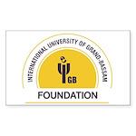 IUGB Foundation Sticker (Rectangle 50 pk)