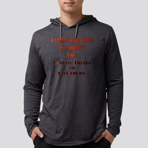 firefightingaboutass_redblk Mens Hooded Shirt
