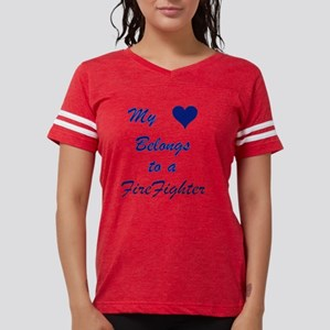 Myheartbelongstofirefighter. Womens Football Shirt