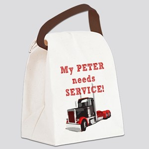 My PETER needs SERVICE! Canvas Lunch Bag
