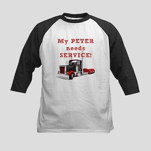 My PETER needs SERVICE! Kids Baseball Jersey