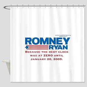 Romney Debt Clock Shower Curtain
