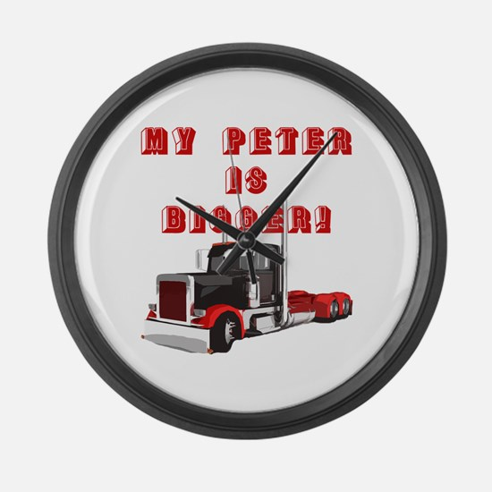 My PETER is BIGGER! Large Wall Clock