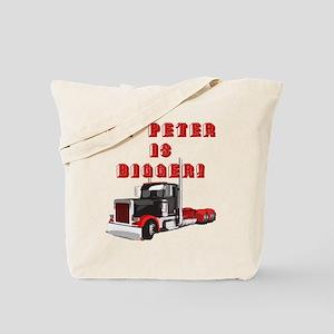 My PETER is BIGGER! Tote Bag
