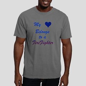 Myheartbelongstofirefigh Mens Comfort Colors Shirt