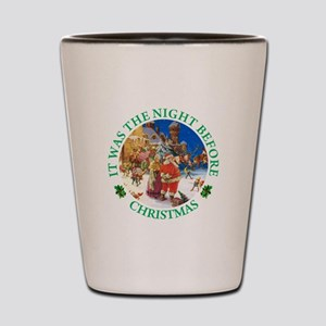 Christmas Eve at the North Pole Shot Glass