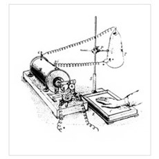 Art of Roentgen's X-ray apparatus for imaging hand Poster
