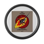 KNOTS Retro Patrol Patch Large Wall Clock