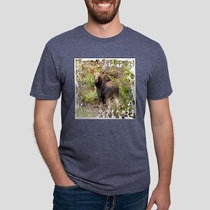 11 X white moose Mens Tri-blend T-Shirt