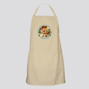 Santa & His Elves at the North Pole Stable Apron