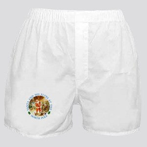 Santa & His Elves at the North Pole Stable Boxer S