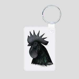 Ayam Ceymani Rooster Aluminum Photo Keychain