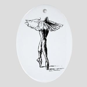 Ballet Ornament (Oval)
